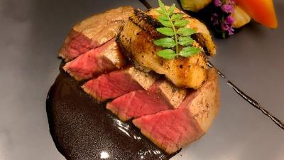牛フィレ肉とフォンドヴォーを使ったソース