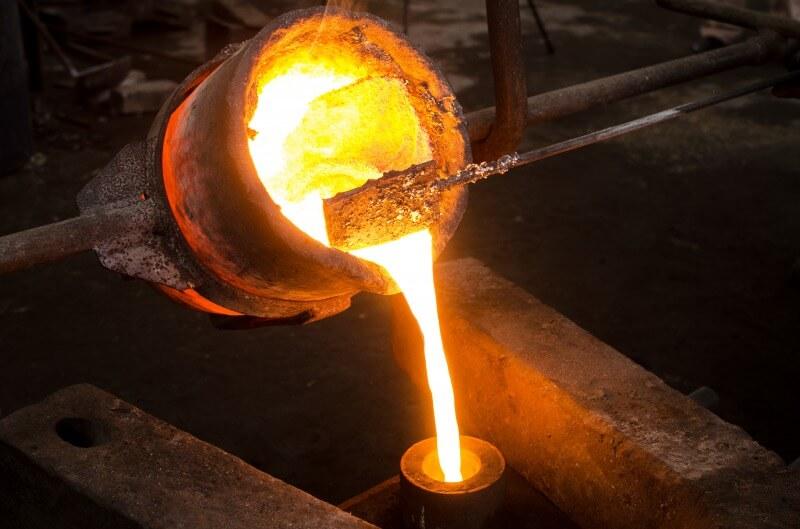鋳物の製造過程